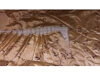 Made to Measure Gold/Beige Silk Curtains