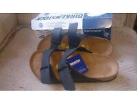 Brand New BIRKENSTOCK Arizona 'Mens leather Sandles', Size 8 (42). Colour - Black.