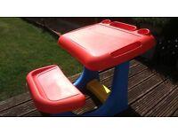 kids nursery room outdoor toy activity desk plastic worth £40