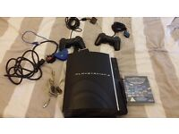PS3 80 GB (first generation) with power cable and scart adaptor (no lead)