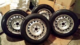 VW Caddy Rims with Tyres.