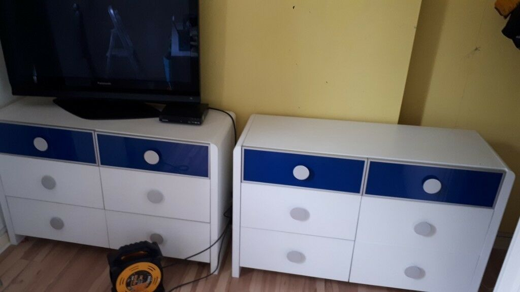 two sets of boys 6 drawers not ikea malm kullon in knightswood