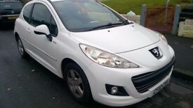 2010 PEUGEOT 207 1.4 MILLESIM, 3 DOOR HATCHBACK WHITE PETROL