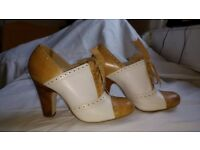 Dune Size 3 Light Brown Brogue Style High Heels