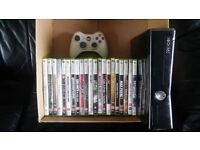 xbox 350 slim gloss black 250gb with 21 games