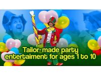Kids birthday CLOWN Childrens Entertainer Magician Balloon modeller FACE PAINTER party hire BUBBLES