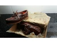 Ladies classic 3 lug Timberland moccasins size 3.5 dont think my wifes worn them !!
