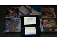 Nintendo 3ds xl blue with 4 games