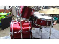 CB drum kit + Paiste cymbals,