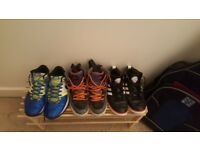 3 pairs of shoes 1)adidas vespa service/ 2)nike trainers/ 3)nike boots