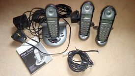 bt cordless phone trio with answering machine