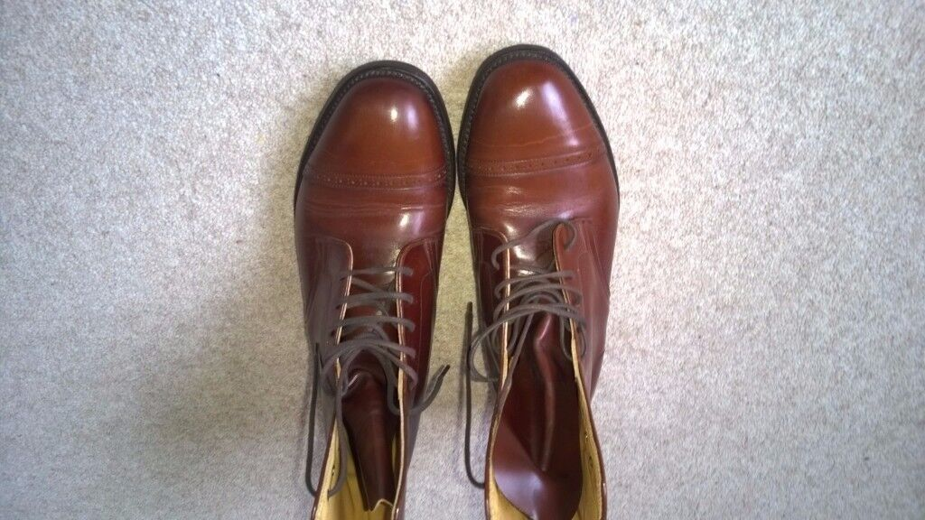 Bench Made LOAKE Brogue/Oxford Boots Size 7.5