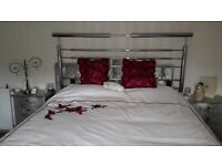 King Size Chrome Head Board