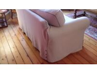 Two-seater Ikea sofa. Oatmeal colour washable covers. Excellent, clean condition