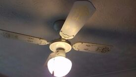 Ceiling fan with light - 2 available