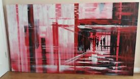 Dwell 'textural red art' canvas