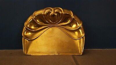 A Beautiful Brass Antique Art Nouveau Decorative Crumb Tray Lovely Shell Shape