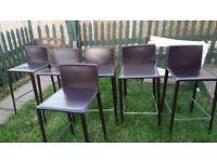 Hard Leather Bar Kitcken Stool chair