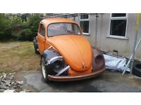 Classic 1972 Vw Beetle Great Winter Project