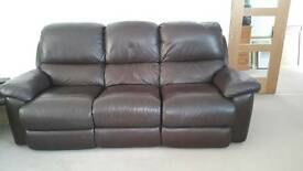 3 seater sofa (reclining)+2 reclining chairs