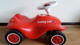 Big Red Bobby ride on car