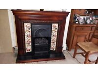 electric fire and surround, replica Victorian fireplace