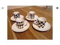 Hornsea Pottery Silhouette Coffee Cup Espresso Set