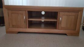 Bevel Natural Solid Oak Large TV Cabinet
