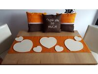 Pillow covers , table runners, decorations ..