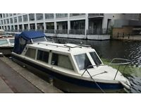 Viking 23FT Live Aboard GRP Boat with 15HP Outboard Engine
