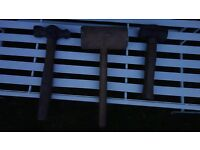 Old Mallets & Hammers (3x)