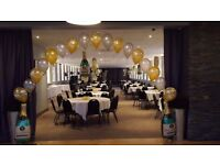 10 sets of 3 balloons -large foil double number - and floor balloons £65