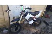 Pitbike 2009 frame with stomp 125 engine