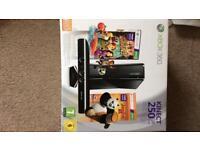 Xbox 360 and Kinect sensor and game