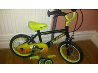 Childrens 14'' Apollo Claws bike with stabilisers