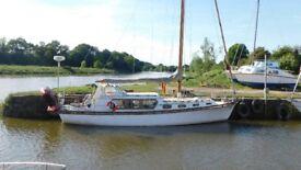 Hartley South Sea 40 ft Motorsailer. Make an ideal live aboard or sail away .