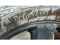 CONTINENTAL BRAND NEW TYRE WITH ALLOY COMPLETE 255/50/R19