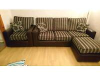 3 seater and 2 single seats with footstool in very good condition