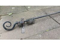Wrought iron curtain pole artisan wth brackets and rings
