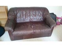 Free two seater sofa (brown)