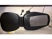 shiatsu back massager heated three steps back neck and lower bac or all three steps togethe