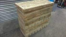 Handmade Party Home Bar from Recycled Reclaimed Pallet Wood 117 x 52 x101 cm