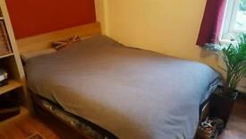 Ikea Malm Oak Veneer Bed