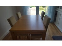 Maple Dinning Table & Four Chairs & Matching Sideboard