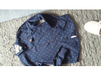Boys Penguin brand long sleeve shirt - age 12-13 worn once - navy pattern