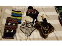 Boys hats scarf gloves 4-8 yrs