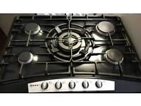 Neff 70 cm, 5 burners gas hob with wok burner