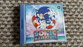 sega dreamcast Sonic Adventure boxed with instructions