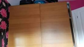 Oak veener pax wardrobe