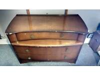Vintage dressing table/chest of drawers
